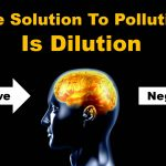 The image shows a brain with negative thoughts being pushed out with positive dilution.